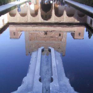 Brunnenanlage, Alhambra, Granada, Andalusien