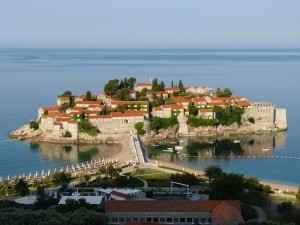 Sveti Stefan in Budva, Montenegro