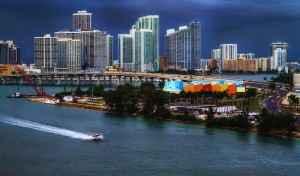 Die Küste von Miami, Florida