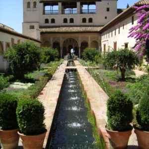 Garten, Alhambra, Granada, Andalusien