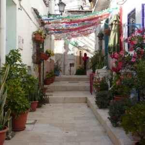 Geschmückte Straße, Alicante, Valencia