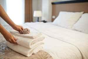 Handtücher im Hotel