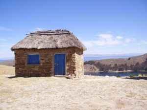 Hütte, Titicaca See, Bolivien