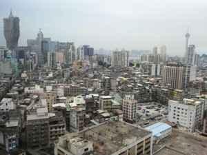 Blick auf die Innenstadt, Macau, Asien