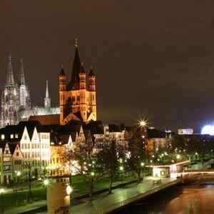 Kölner Dom bei Nacht, Köln, Nordrhein-Westfalen