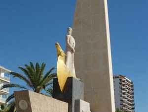 König James Statue, Salou, Katalonien