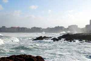 Küste, La Coruna, Galicien