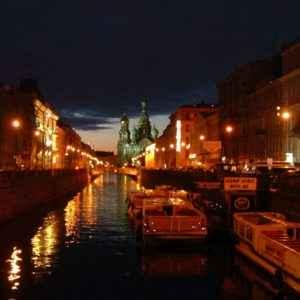 Nacht, St. Petersburg, Russland