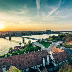 Blick auf Novi Sad
