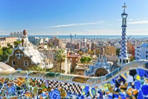 Park Guell, Barcelona, Spanien