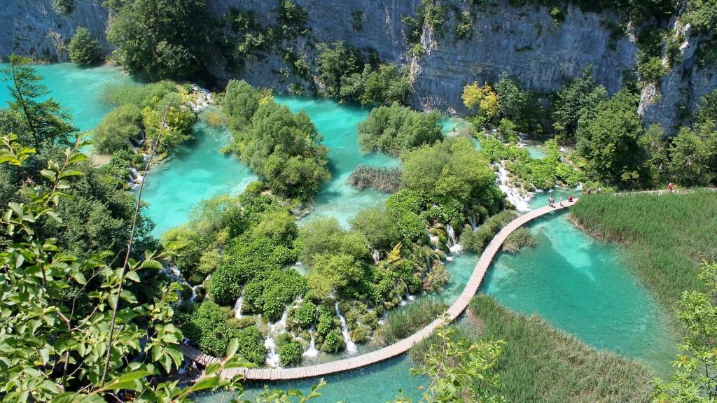 Anziehungspunkt für Touristen in Kroatien: Die Plitvicer Seen