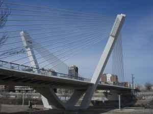 Princep de Viana Brücke, Lleida, Spanien