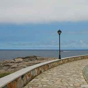 Promenade, Burela, Galicien