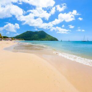 Reduit Beach auf St. Lucia