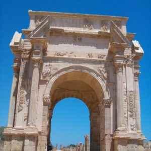 Römisches Tor, Leptis Magna, Libyen