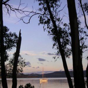 Segelboot, Bruny Island, Tasmanien