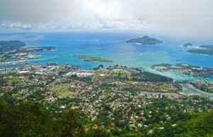 Blick auf Victoria, Hauptstadt der Seychellen