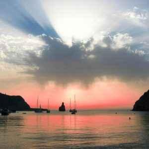 Sonnenuntergang im Hafen, Ibiza, Balearen