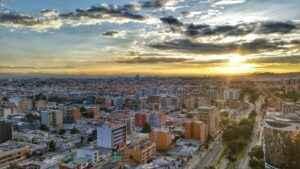 Sonnenuntergang in Bogotà