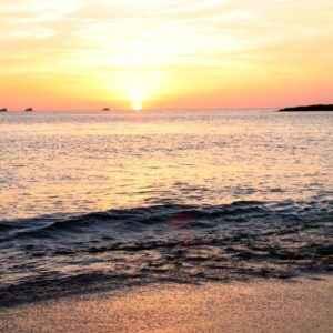 Strand, Cala Conta, Ibiza, Balearen