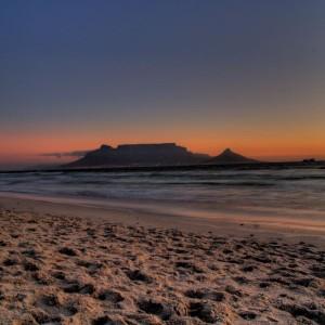 Strand Nahe Kapstadt, Südafrika