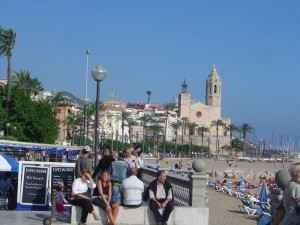 Strand, Sitges, Katalonien, Spanien