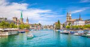 Zürich Fluss Limmat