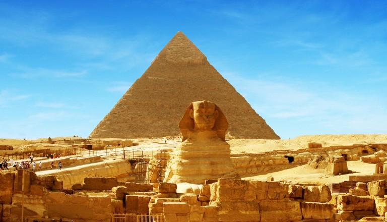 Aegypten-Pyramiden-Gizeh-Sphinx
