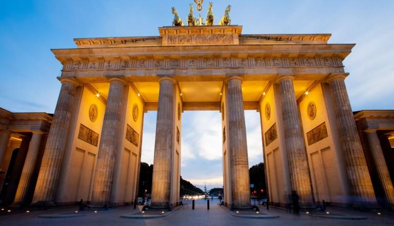 Berlin - Brandenburg gate (brandenburger tor) in berlin night shot
