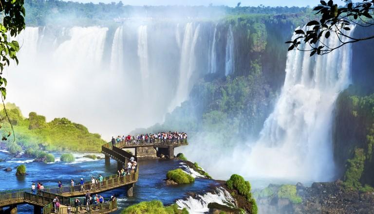 Brasilien-Iguazu-Wasserfall