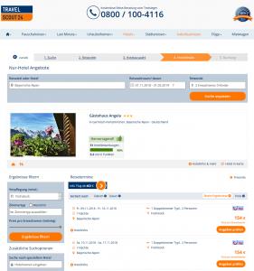 Screenshot Deal Bayerische Alpen Gästehaus Angela