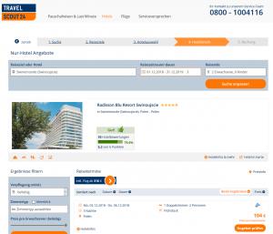 Screenshot Deal Radisson Blu Resort in Swinemünde