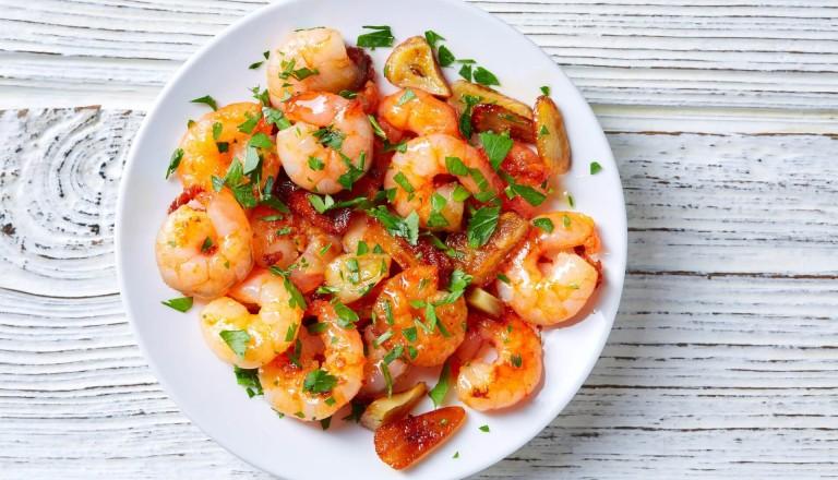 Kulinarisch Spanisch Gambas al ajillo