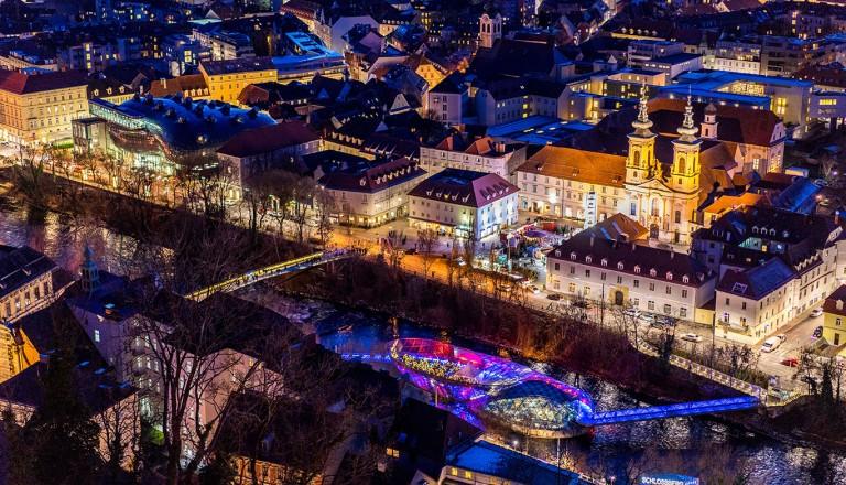 Graz in der Nacht - Partyurlaub