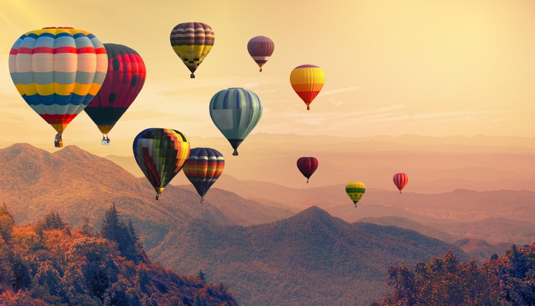 Kenya-Heissluftballon