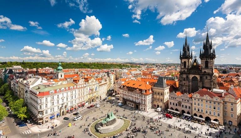 Platz in Prag