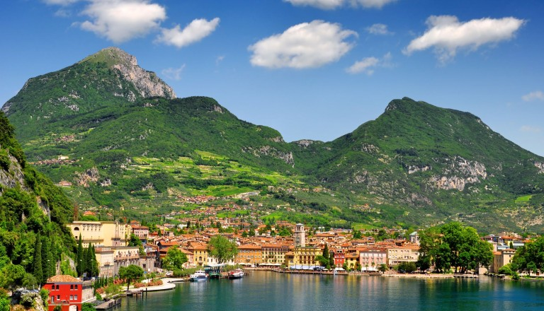 14470768 - the city of riva del garda, situated in the northern part of the largest italian lake, lago di garda