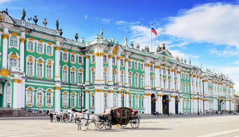 Sankt-Petersburg-Winterzeit.