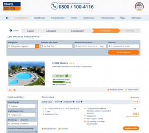 Screenshot Deal Korfu Hotel COOEE Albatros