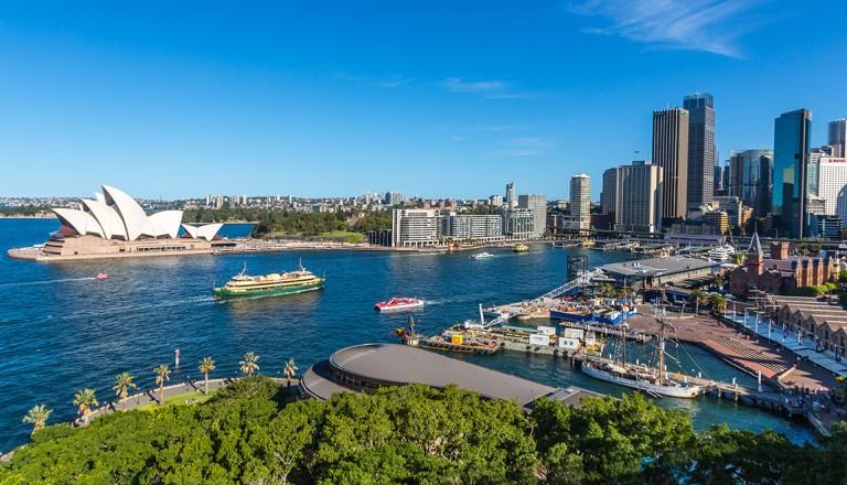 Sydney-Opernhaus-und-Hafen