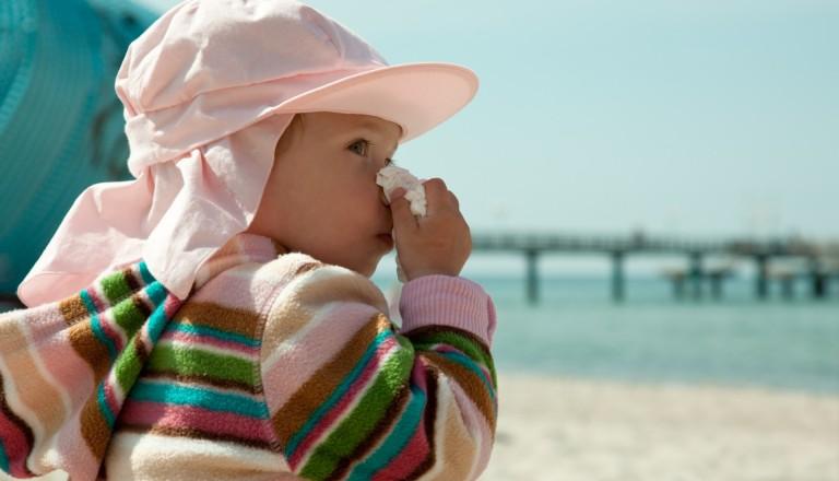Erkältet am Strand