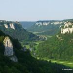 Blick vom Eichfelsen bei Irndorf im Donaubergland