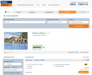 Screenshot Deal Residence a Merula auf Korsika