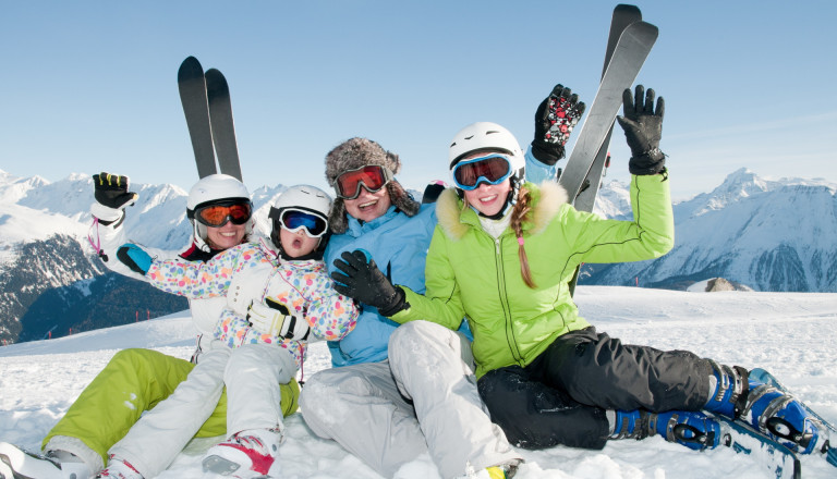 Happy family Ski
