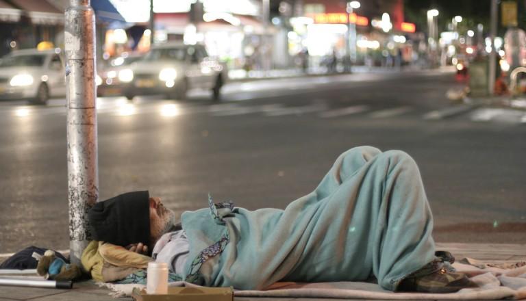 Obdachler auf der Straße