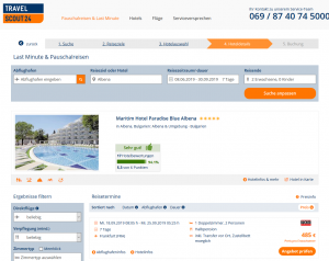 Screenshot Bulgarien Deal 5* Maritim Hotel Paradise Blue Albena