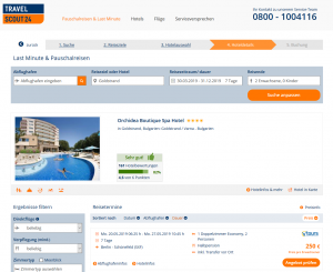 Screenshot Bulgarien Deal Orchidea Boutique Spa Hotel