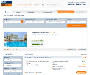 Screenshot Bulgarien Deal Spa Hotel Romance Splendid
