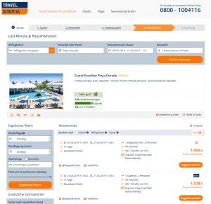 Screenshot Dom. Rep. Deal Grand Paradise Playa Dorada