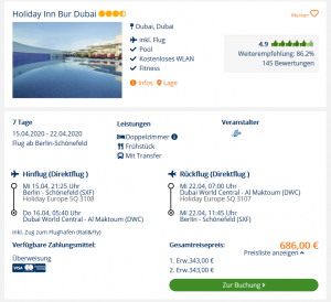 Screenshot Dubai Deal Holiday Inn Bur Dubai